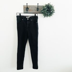 """Madewell Black 9"""" High Rise Jeans 28"""